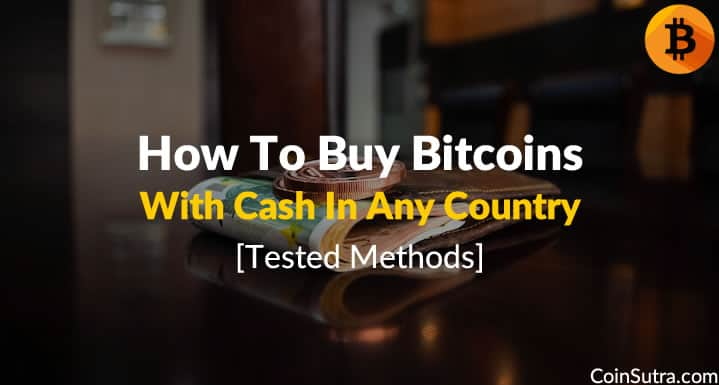 Buy Bitcoins With Cash