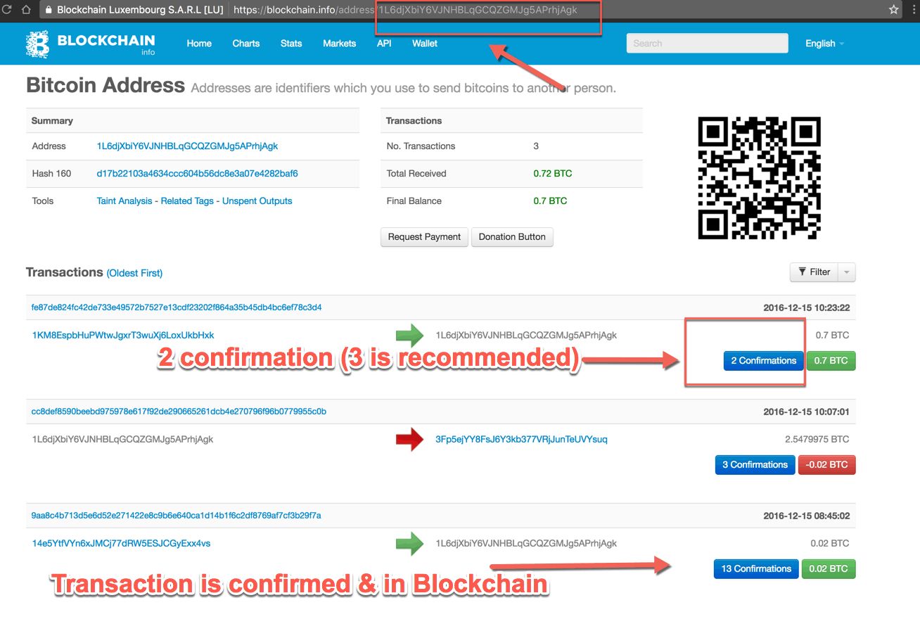 In The Above Screenshot, You Can See Two Different Transactions One With  Two Confirmations & Last One With 13 Confirmations