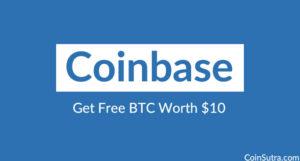 Coinbase: Get Free BTC Worth $10 [Promo]
