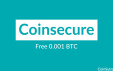 Coinsecure Offers Free 0.001 BTC: Here's How to Get it