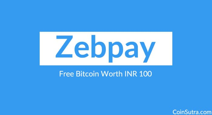 Zebpay Promo Code: Free Bitcoin Worth INR 100