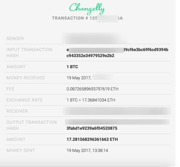 Changelly Transaction