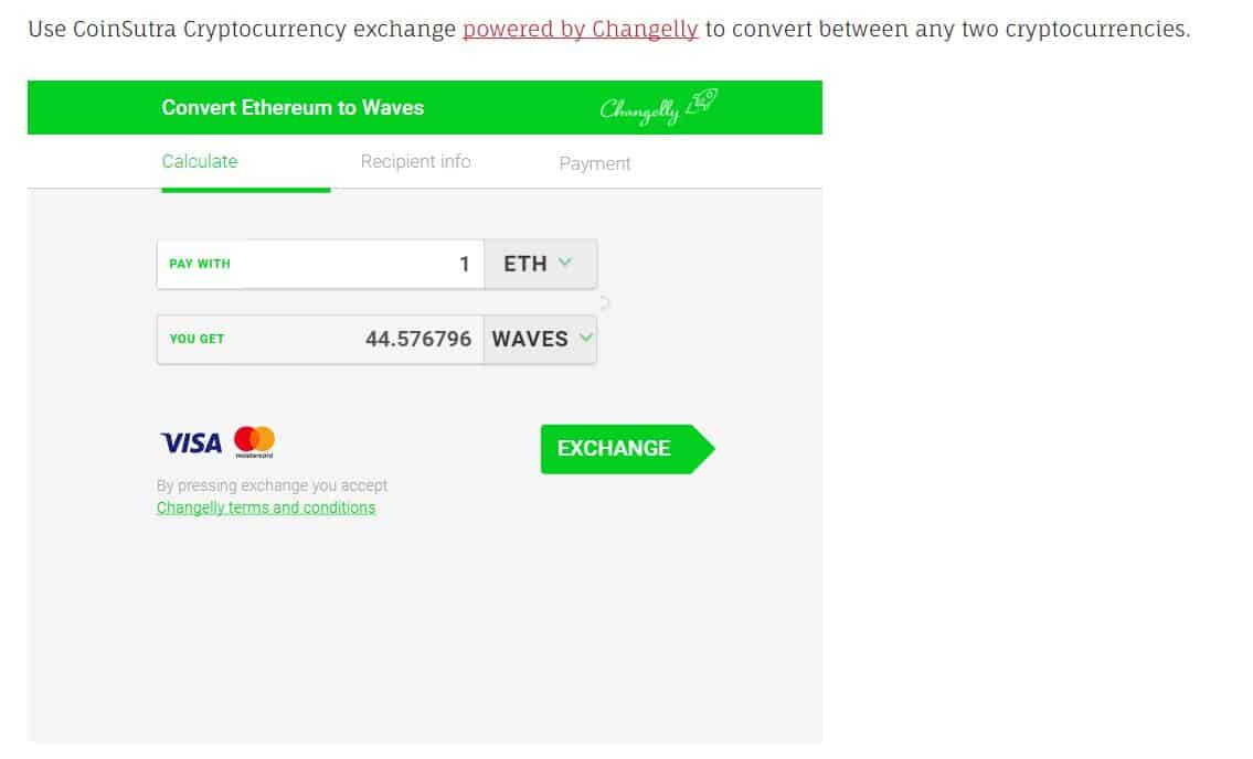 Buy Waves from Changelly