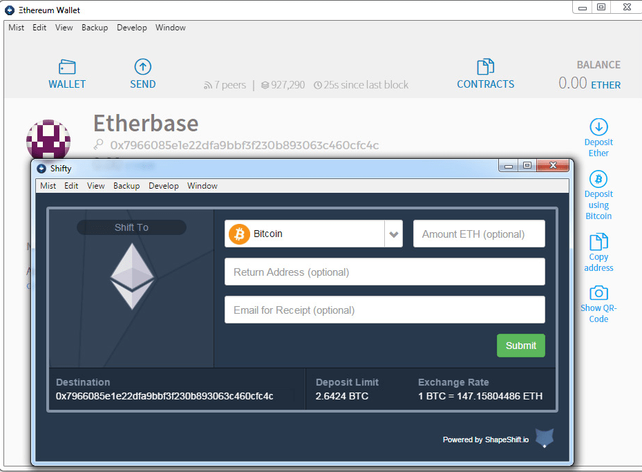 Desktop wallet for Ethereum