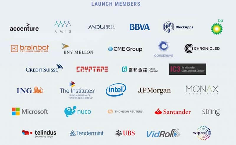 Ethereum Enterprise Alliance- Launch Members
