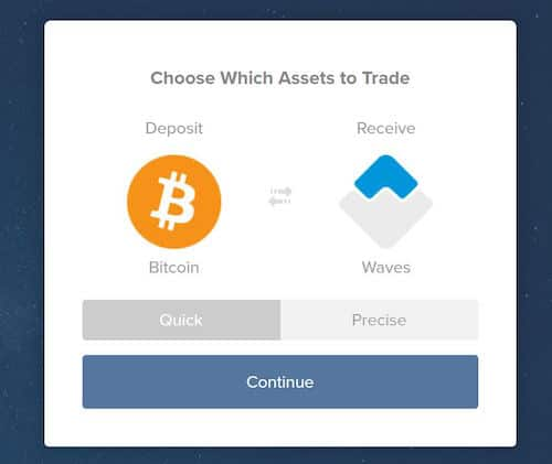 Buy Waves from Shapeshift