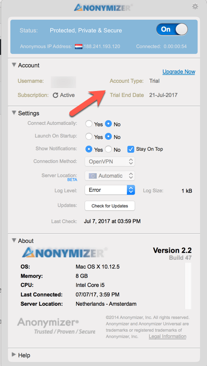 Getting Started with Anonymizer