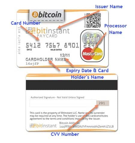 What does a Bitcoin debit card look like