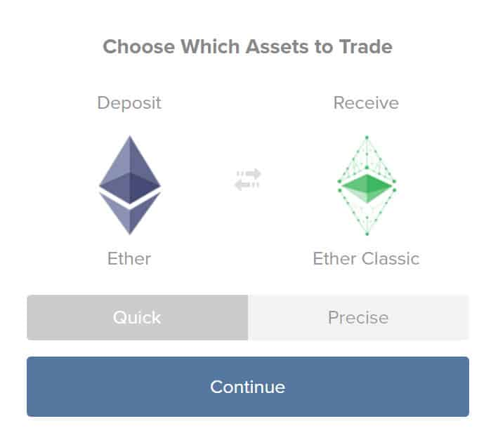 Buy ETC from ShapeShift