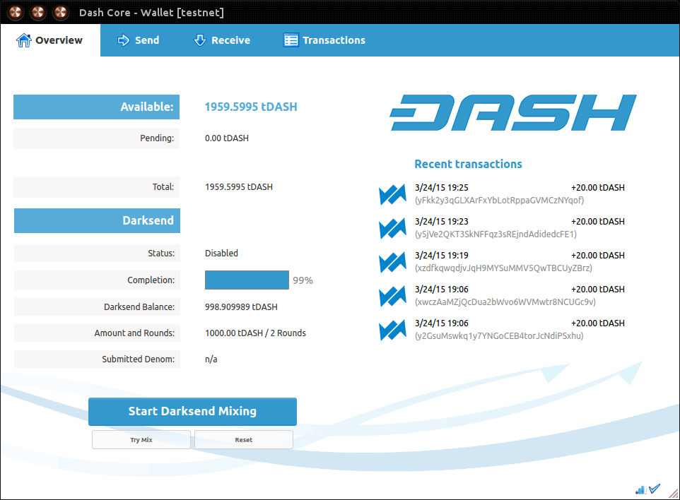 DASH Core (Desktop Wallet)