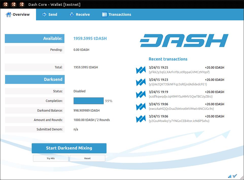 DASH Core(Desktop Wallet)