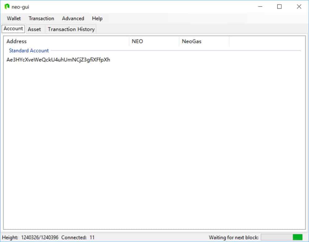NEO GUI (Desktop Wallet)