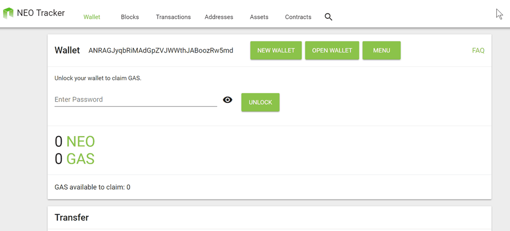 NEO Tracker (Web Wallet)