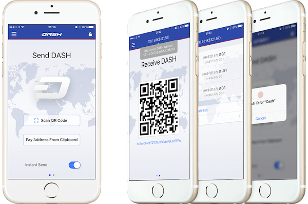 DASH Core iOS  (Mobile Wallet)