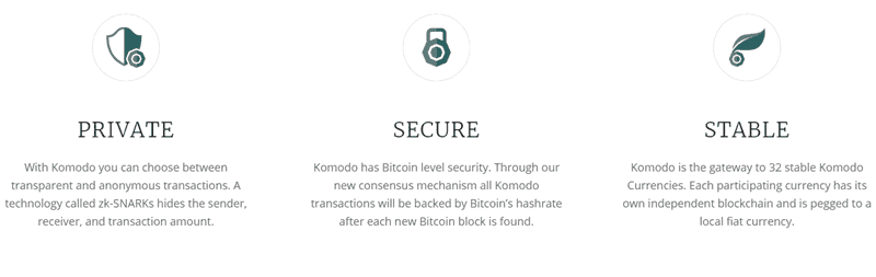 The Komodo blockchain platform