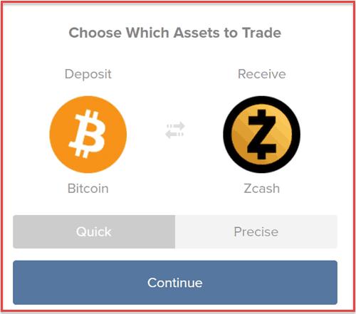 Buy Zcash fromShapeShift