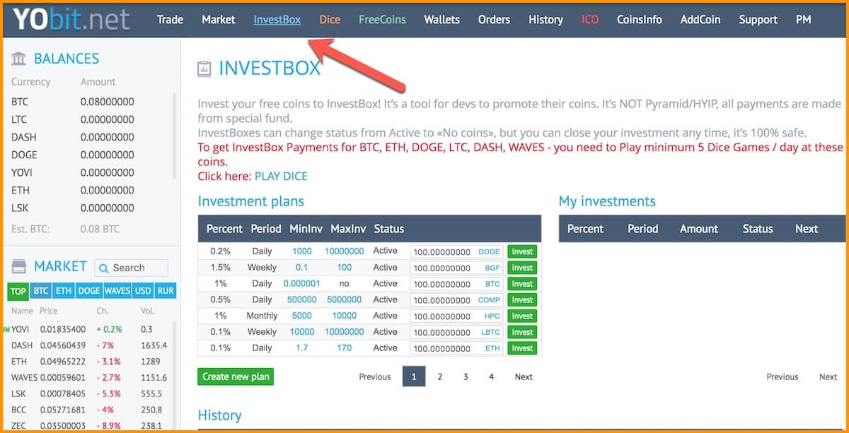 Yobit-Investbox