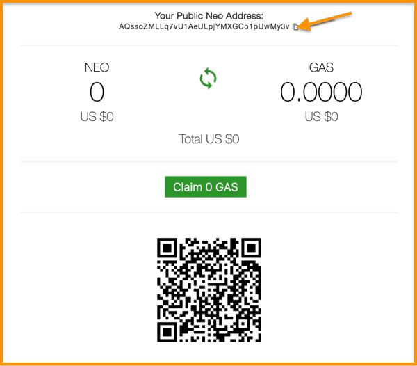 NEON-Wallet-Funding