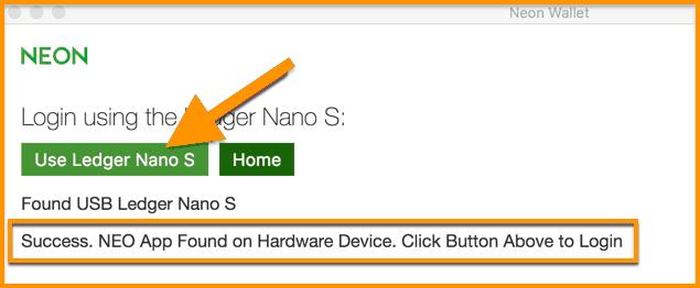 Login-using-Ledger-Nano-S