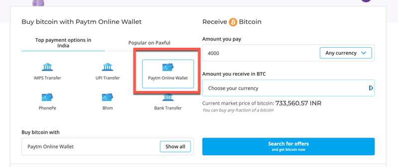 buy Bitcoin with PayTM