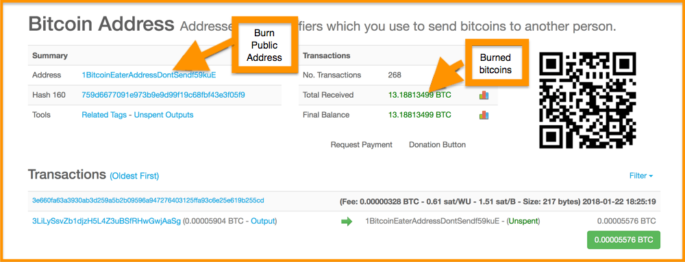 Bitcoin-Address-Burn