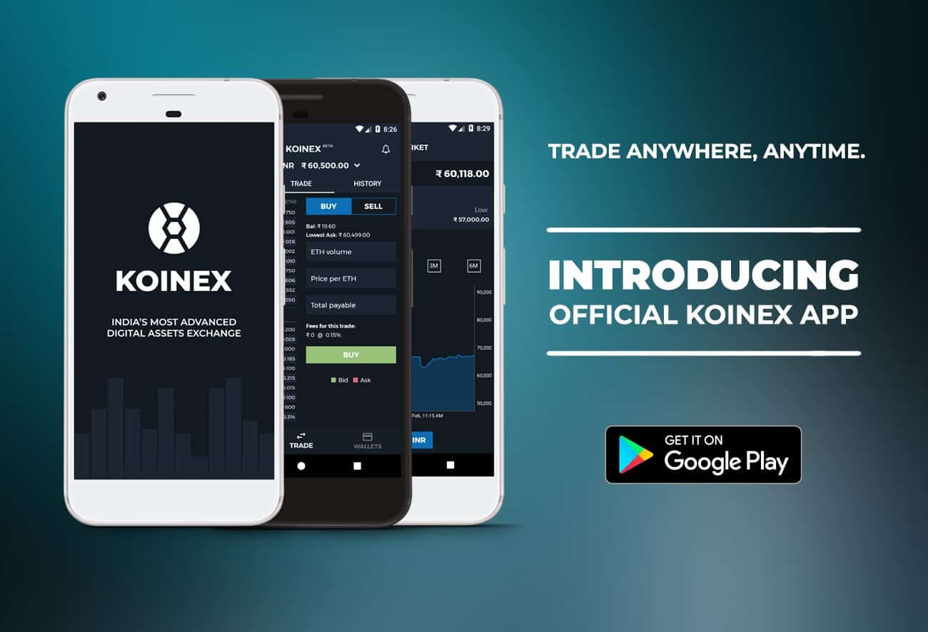 Download Koinex Android Mobile App For Trading Multi Crypto-Asstes In India