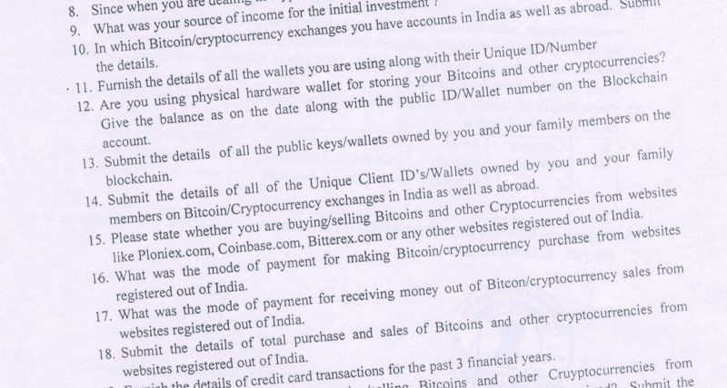Indian Income Tax Department Sends Notices To Cryptocurrency Traders & Investors