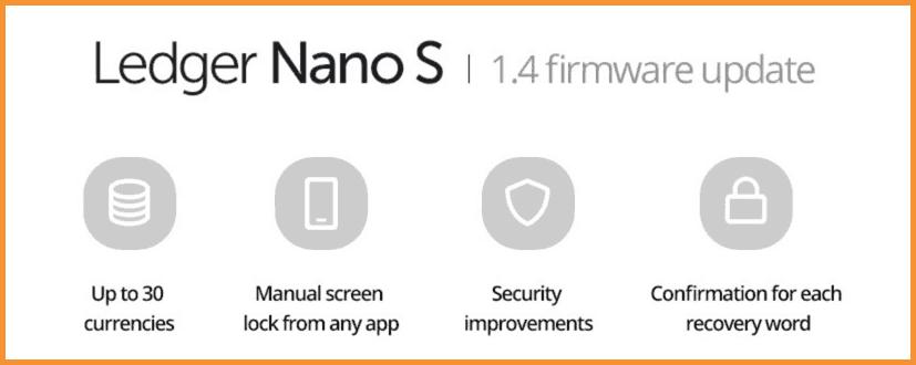 Ledger Nano S 1.4 Firmware update