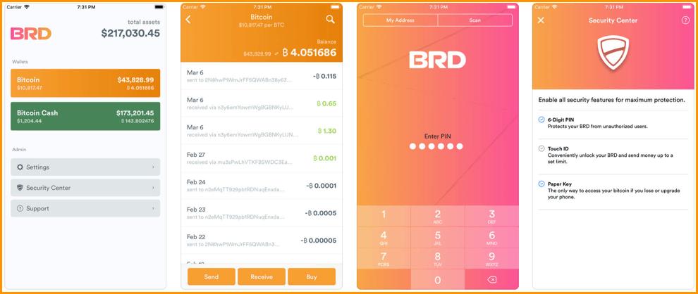 BRD- Bitcoin Wallet