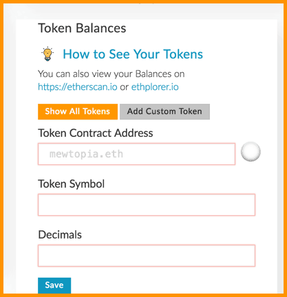 How To Add A Custom Token In MyEtherWallet [Adding ERC20