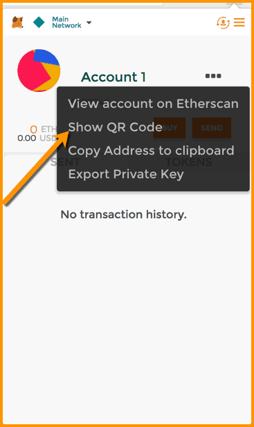 Send Receive Ether on MetaMask wallet