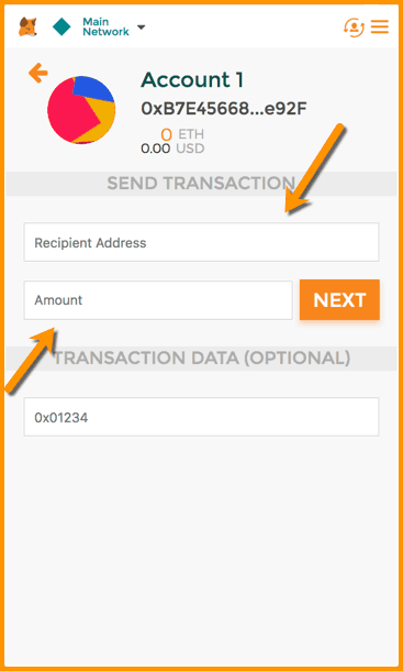 MetaMask Send Transaction