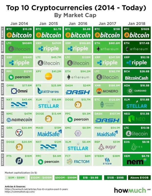 Investing in top 10 cryptocurrencies