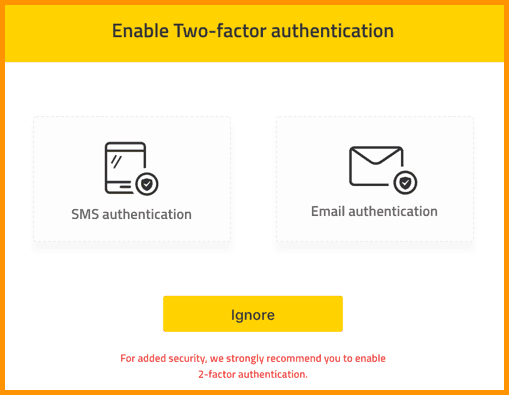 ABCC two-factor authentication