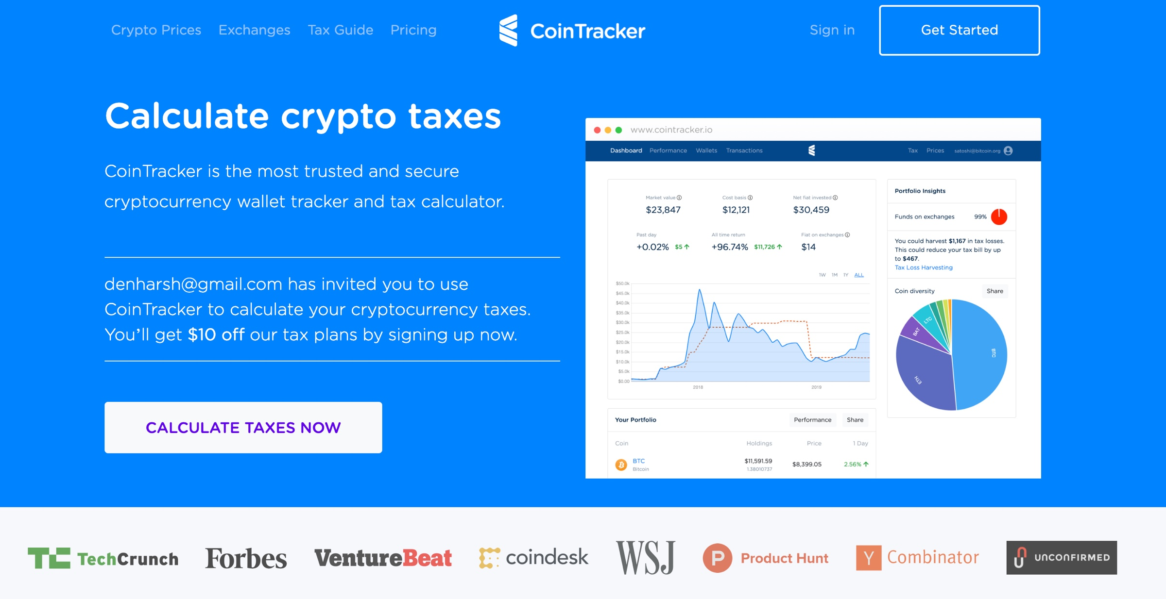 calculate tax on cryptocurrency