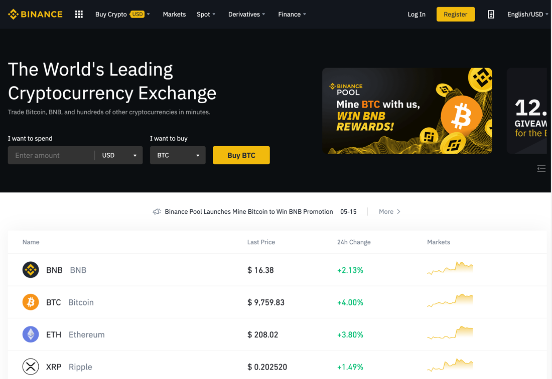 best cryptocurrency market exchange